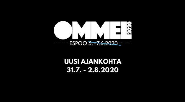 Ommel 2020 siirtyy, uusi ajankohta 31.7.–2.8.